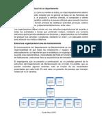 Estructura Organizacional de Un Departamento de Mantenimiento