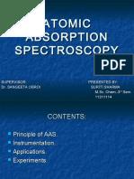 Atomic Absorption Spectrocopy