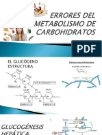 Errores Del Metabolismo de Carbohidratos