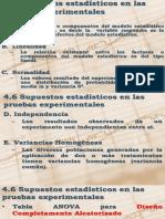 4.6 supuestos estadisticos en las pruebas experimentales