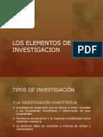 Los Elementos de Un Proyecto de Investigacion