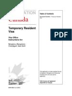 Canada Check List Imm5881e