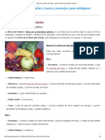 Menú de La Dieta Anti Rebote __ Menú de Dieta de Densidad Calórica