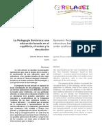 La Pedagogia Sistemica- Una Educacion Basada en El Equilibrio, El Orden y La Vinculacion