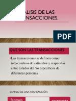 Análisis de Las Transacciones