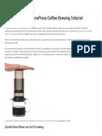The Upside Down AeroPress Coffee Brewing Tutorial