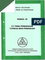 Modul 10 - K3 Pemakaian Tangga dan Perancah.pdf