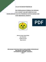 makalah ekonomi pendidikan lanjutan.docx