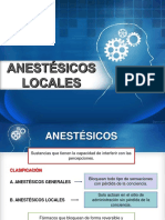 Anestésicos locales. Resumen.