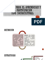 Barreras Para El Aprendizaje y La Participación Sociocultural