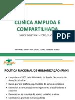 Saúde Coletiva I - Clínica ampliada e compartilhada