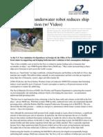 Autonomous Underwater Robot Reduces Ship Fuel Consumption w Video
