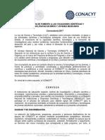 Convocatoria Vocaciones Cientificas y Tecnologicas en Ninos y Jovenes 2017
