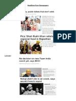 Headlines Today 2