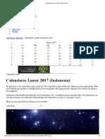 Calendario Lunar 2017 (Indonesia)
