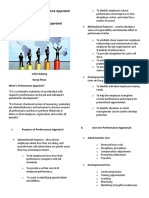 Purpose and Use of Performance Appraisal ( Handout )