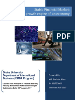 Stable Financial Market the Growth Engine of an Economy