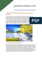 Fuentes de energía para el planeta.docx