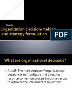 Organization Decision Making