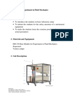 Base Module for Experiments in Fluid Mechanics