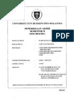 Answer Final Paper SEMESTER 2 2010-11