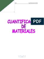 Cuantificación de Materiales