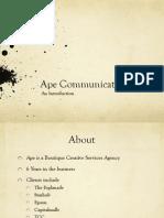 Ape Portfolio