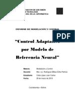 Informe Controlador Neural Adaptativo Con Modelo de Referencia