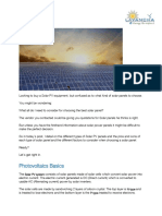 Solar Panel Selection Guide