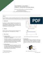 Electrónica Analógica Practica 02 Fuente de Voltaje