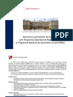 Semnare Contracte Finantare POR PNDL judetul Bacau