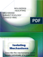 Isolating Mechanisms 2