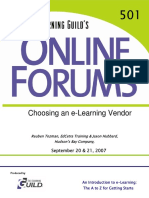 How to Choose the Best E-Learning Vendor