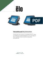 ELO Manual del usuario Touchmonitor
