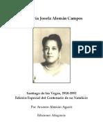 María Josefa Alemán Campos 4.25x5.5