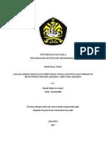 Analisa Beban Kerja Dan Kebutuhan Tenaga Di Instalasi Farmasi Di Rsud Jati Padang Tipe d Dki Jakarta