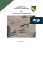 Elk Management Plan Final Public Draft 11-16-17