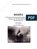 Reseña La Prensa en La Segunda República, Historia de Una Libertad Frustrada