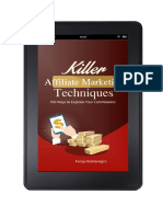 Killer Affiliate Marketing Techniques