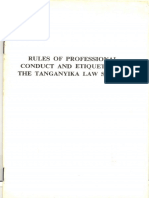Code of Conduct and Etiquette of the Tanganyika Law Society1