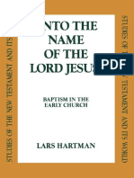 (Studies of the New Testament and its world) Lars Hartman-'Into the name of the Lord Jesus' _ baptism in the early church-T & T Clark (1997).pdf