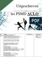 PSMD Les Uitgeschreven Aclo Goed