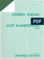 Acht Klavierstucke Op.3 Gyorgy Kurtag(1)