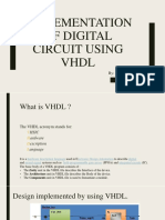 Implementation of Digital Circuit Using VHDL