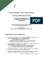 Concours-Clarinette-Règlement