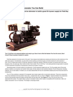 The 12 Volt Pup-A DC Generator You Can Build