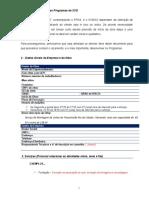 Formulário Programas de SSO R01