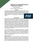 Aplicación Metodos Numericos Ing Civil