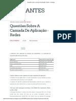 Questões Sobre a Camada de Aplicação - Redes _ Iniciantes