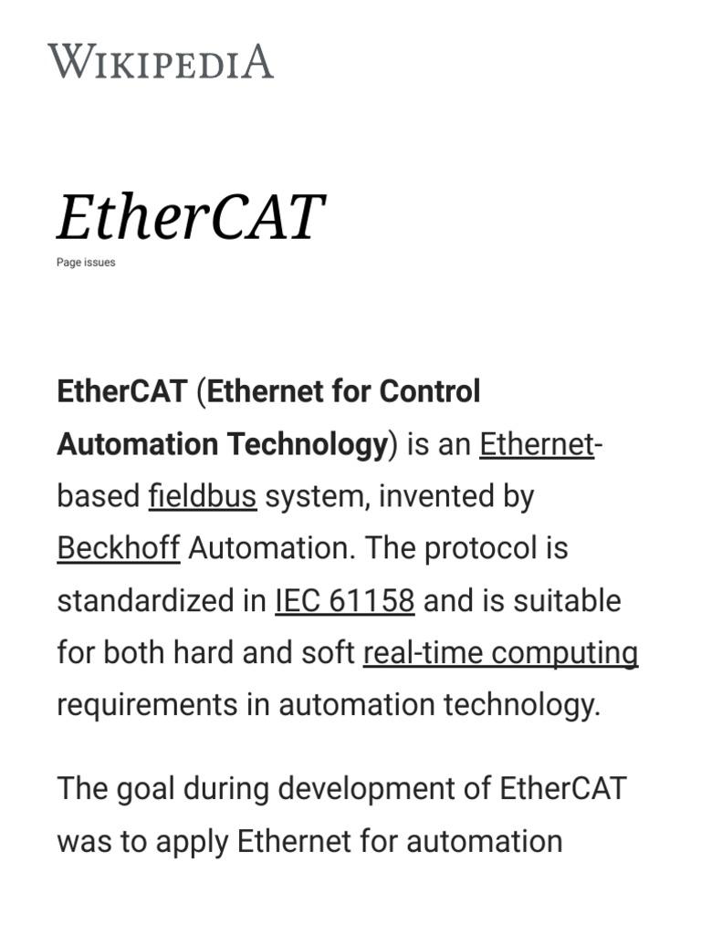 EtherCAT -   Computer Engineering   Electronics